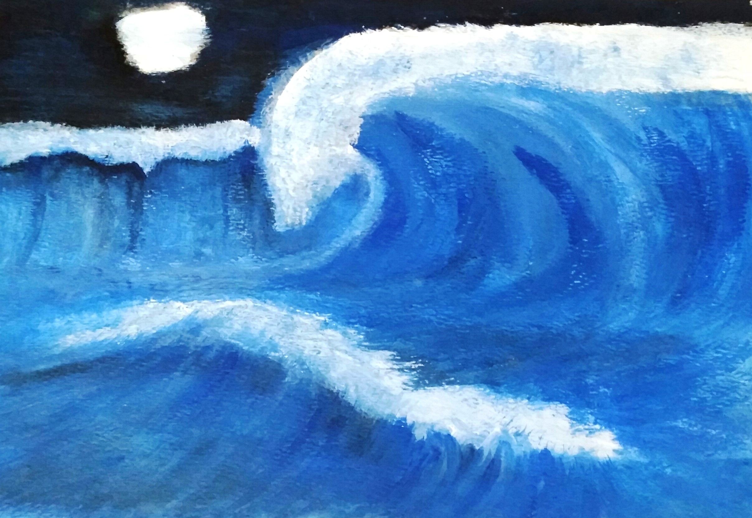 Waves artwork by Sana  - art listed for sale on Artplode