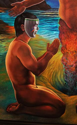 The Blessing artwork by Alan Kent - art listed for sale on Artplode