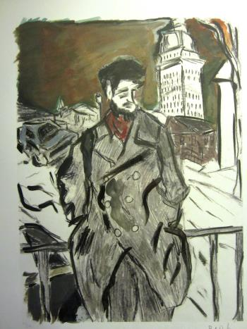 Man on a Bridge, art for sale online by Bob Dylan