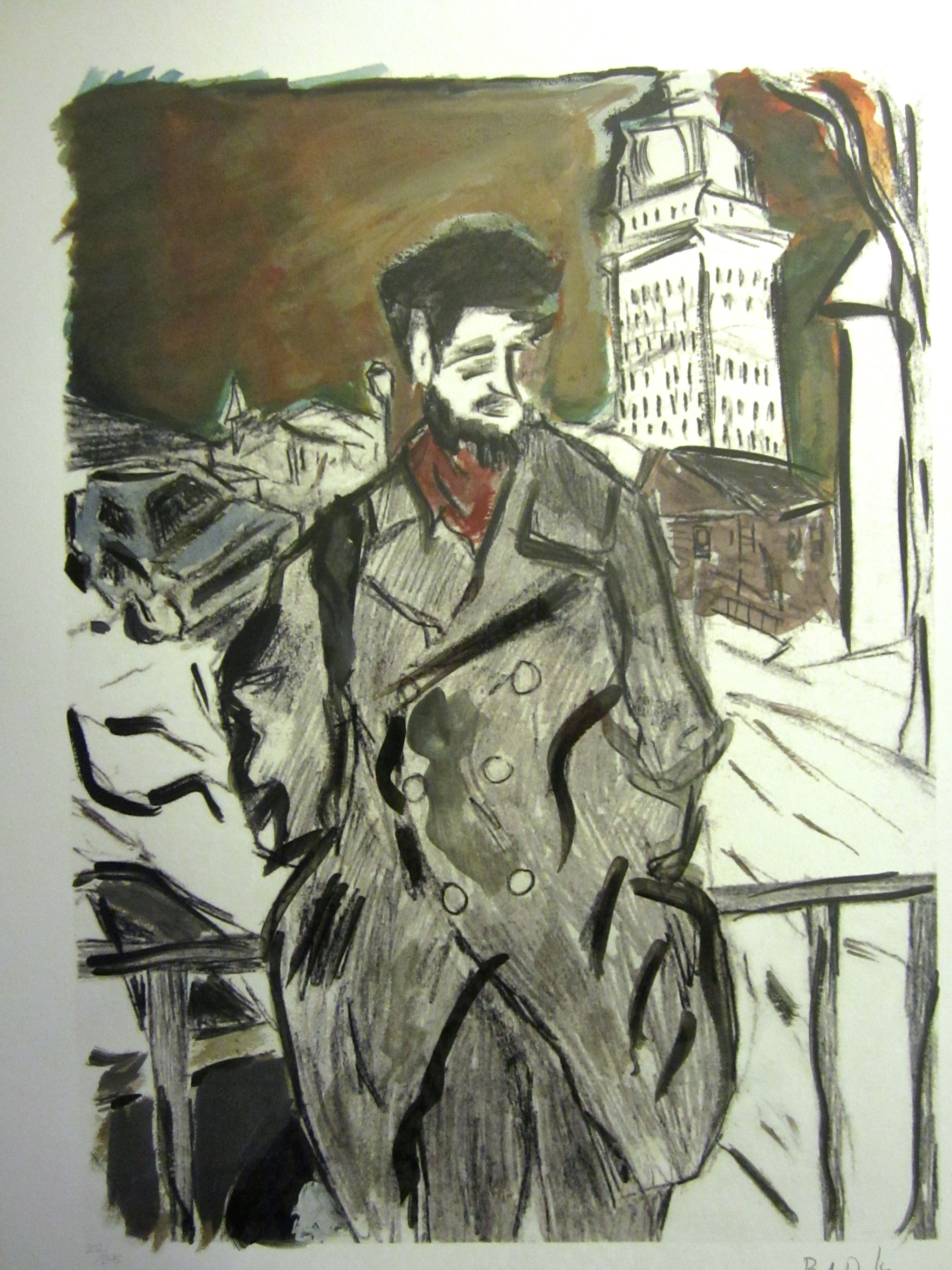 Man on a Bridge artwork by Bob Dylan - art listed for sale on Artplode