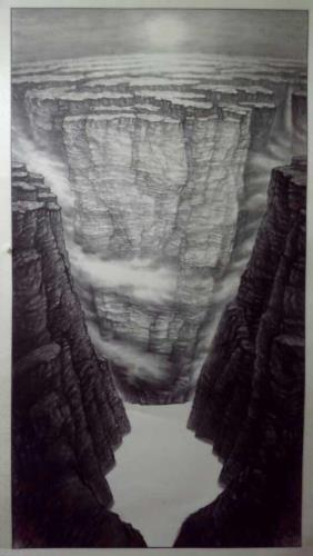 The Dawn of Taihang Mountain, art for sale online by Shiyong Wang