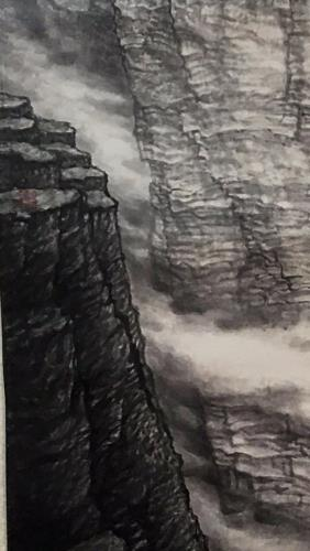 The Dawn of Taihang Mountain artwork by Shiyong Wang - art listed for sale on Artplode