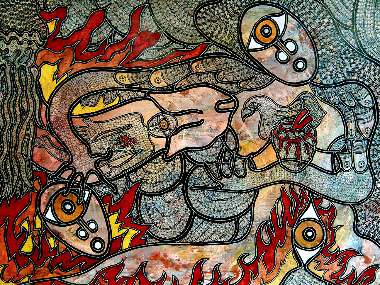 The Fire in the Sea artwork by Jennifer C McCarthy - art listed for sale on Artplode