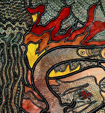 The Fire in the Sea artwork by Jennifer C McCarthy