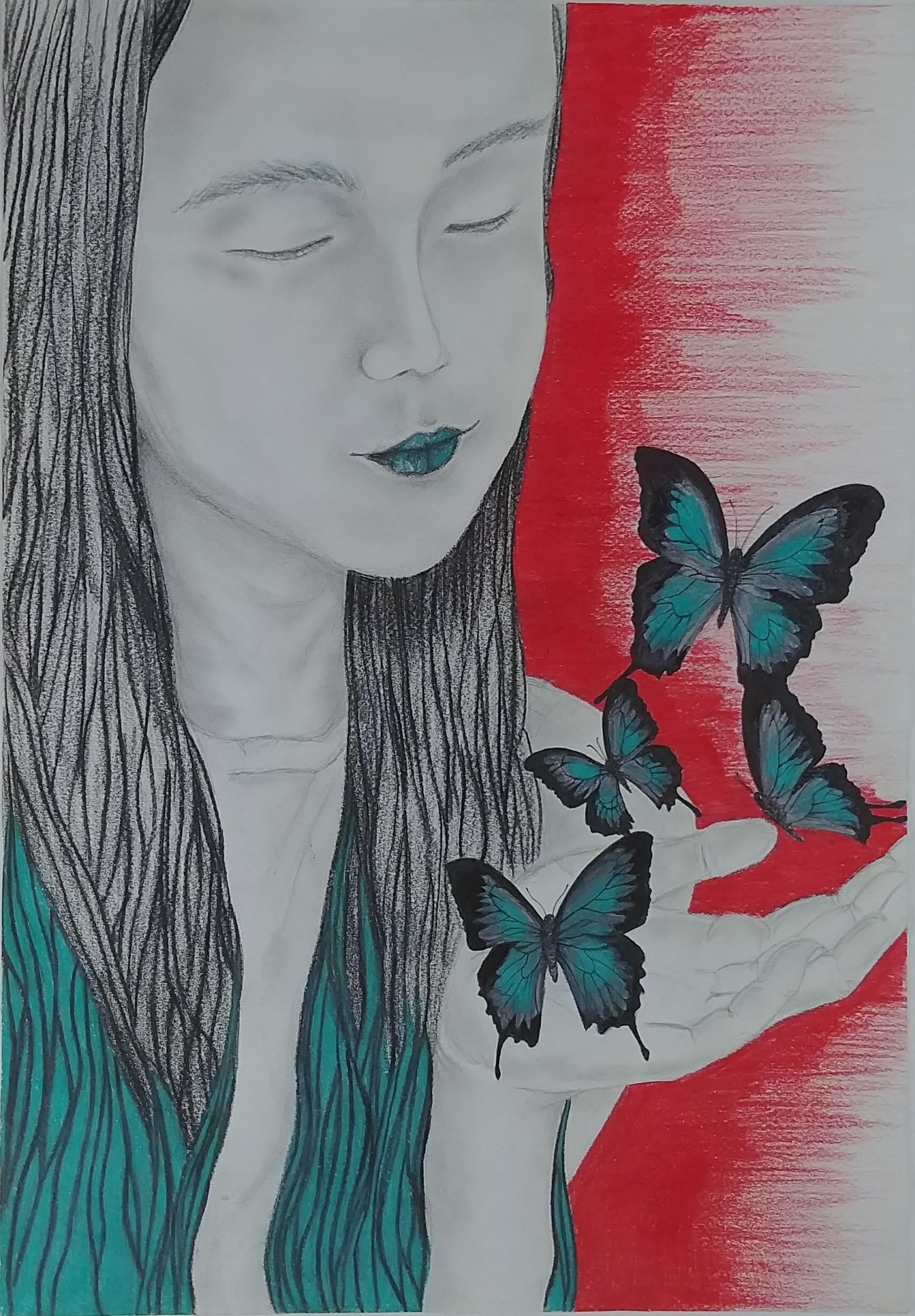 Self Portrait artwork by Hyun Ji - art listed for sale on Artplode