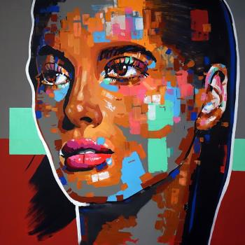Face 19, art for sale online by Wojciech Babski