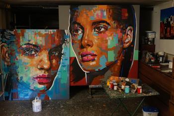 Face 19 artwork by Wojciech Babski - art listed for sale on Artplode