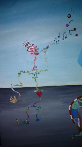 A Musing Woman artwork by Gene Erny