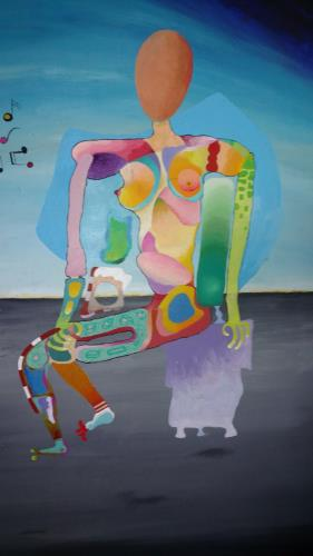 A Musing Woman artwork by Gene Erny - art listed for sale on Artplode