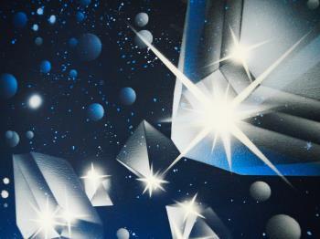 Juwelen in de ruimte artwork by Willy Plompen