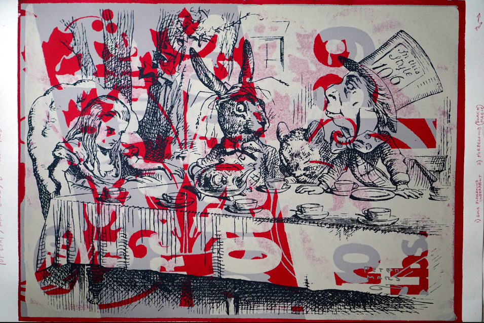 Tea With The Hatter artwork by Peter Mars - art listed for sale on Artplode