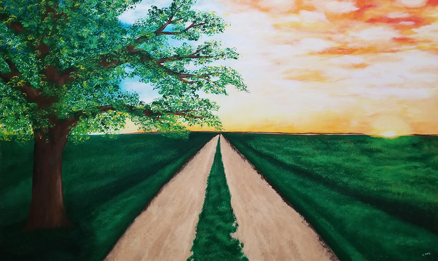 Open Road artwork by Stacey Wellnitz - art listed for sale on Artplode