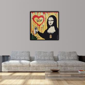 I LOVE LEO artwork by Philippe Le Closier - art listed for sale on Artplode