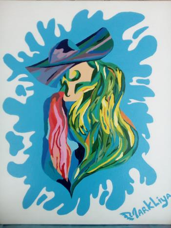 Lady Green artwork by Markliya - art listed for sale on Artplode