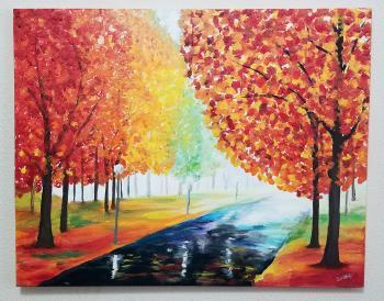 Autumn Pathway artwork by Stacey Wellnitz