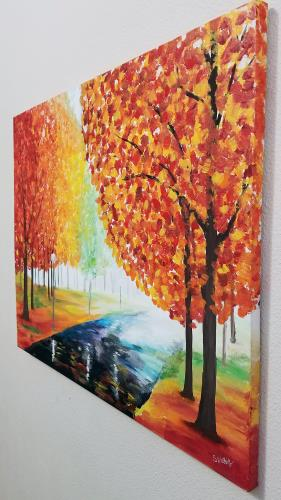 Autumn Pathway artwork by Stacey Wellnitz - art listed for sale on Artplode