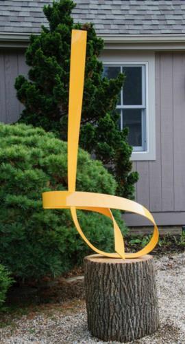 Poised 11 Yellow artwork by Joe Gitterman - art listed for sale on Artplode