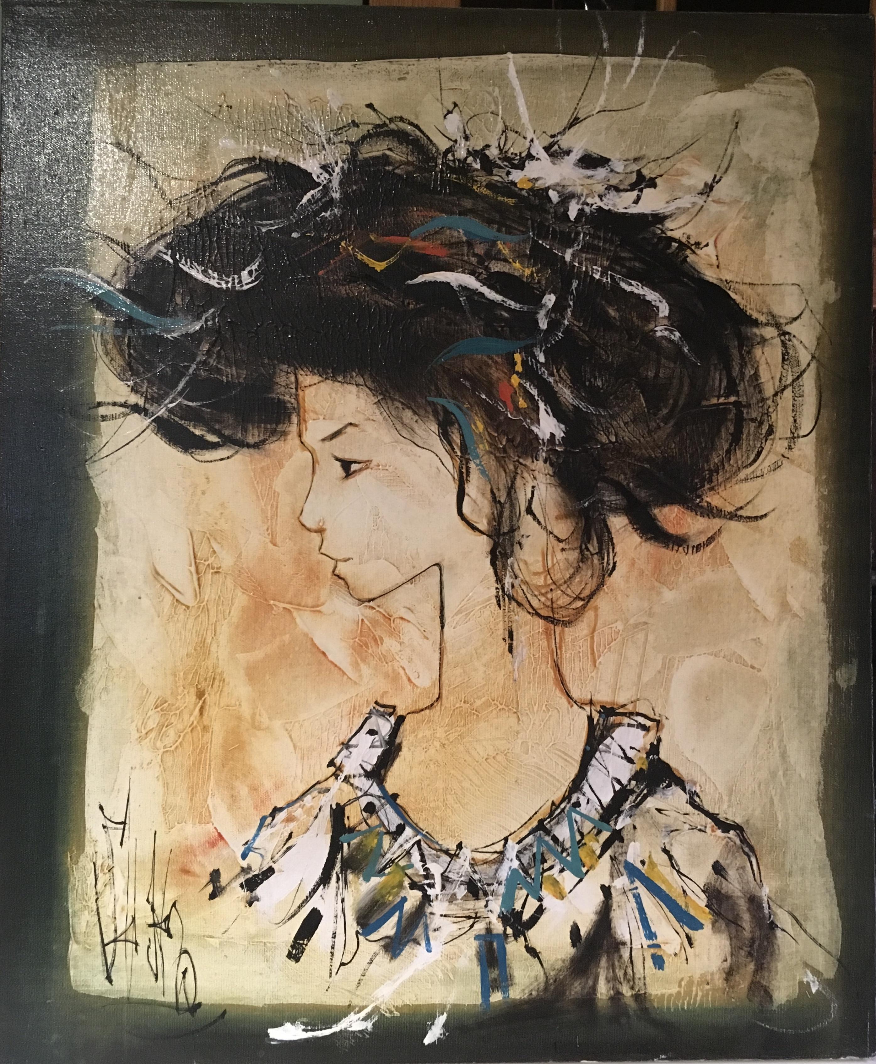 Mademoiselle artwork by Jean Baptiste Valadie - art listed for sale on Artplode