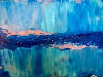 Feeling Ocean Blue , art for sale online by Emily Portner