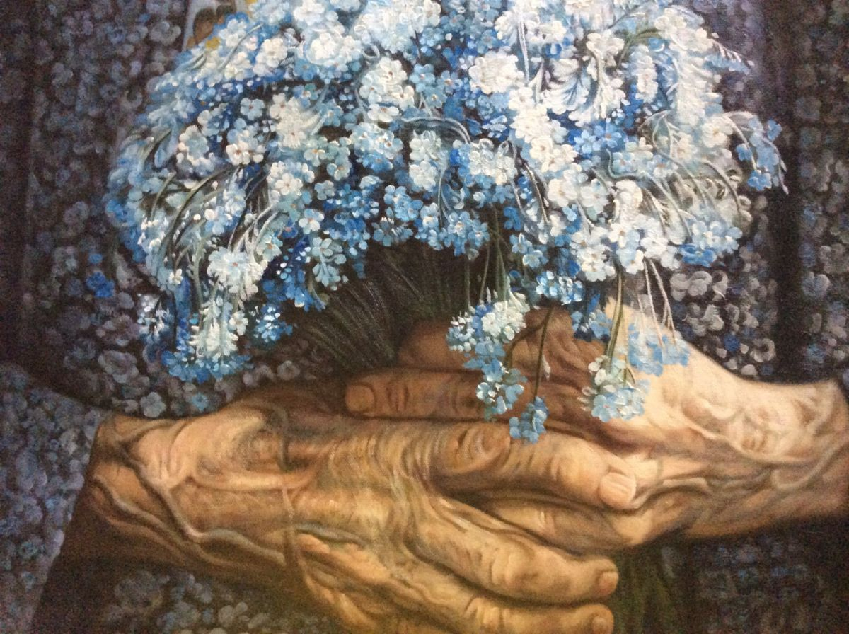 Forget me Not artwork by Mik Arts - art listed for sale on Artplode