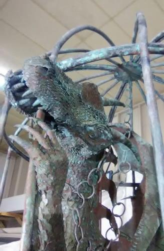 Copper dragon  artwork by Victor Feltz - art listed for sale on Artplode