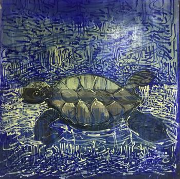 Tortoise, art for sale online by Omar Ghariani