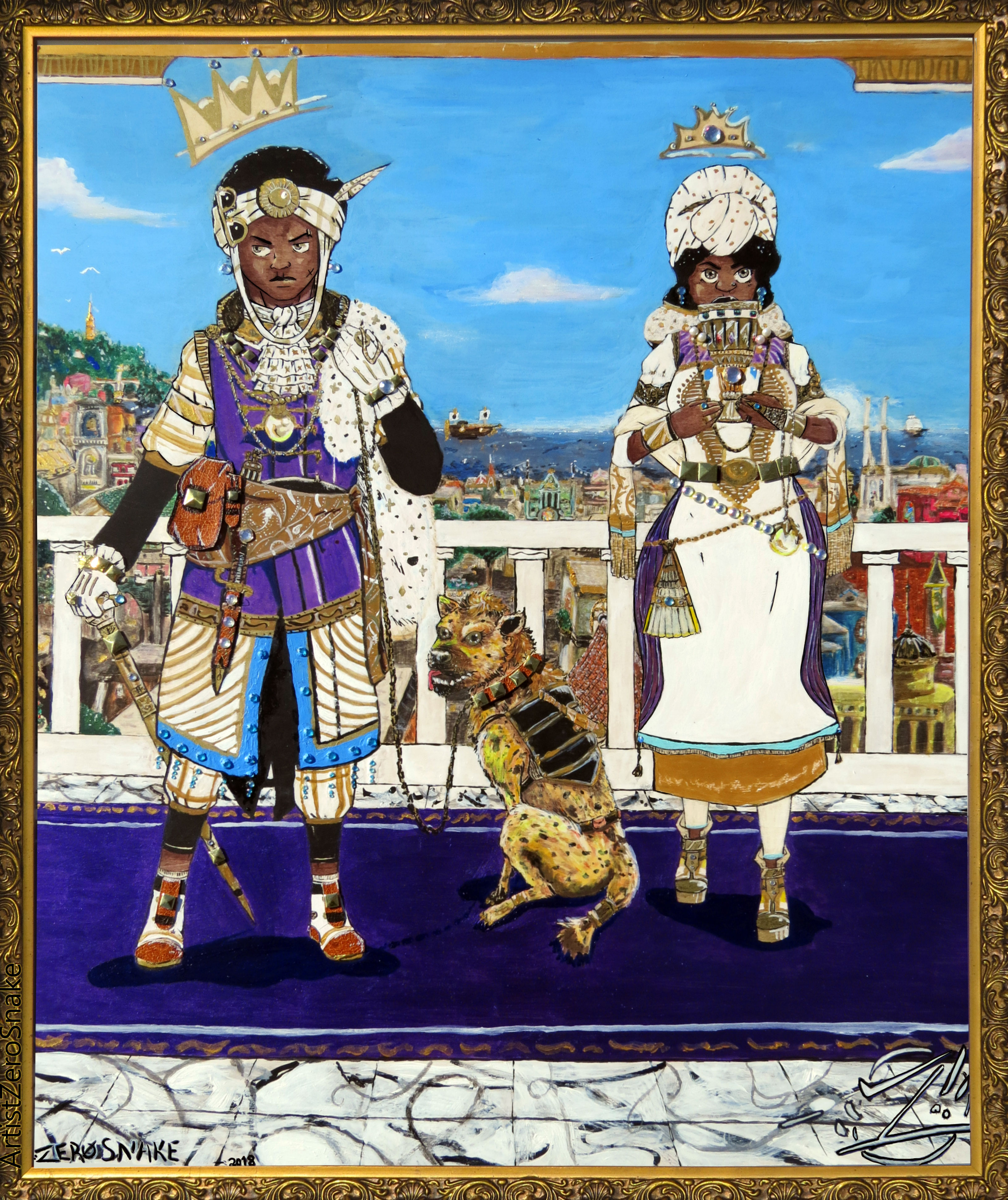 Le Royals artwork by Tyrone Motley - art listed for sale on Artplode