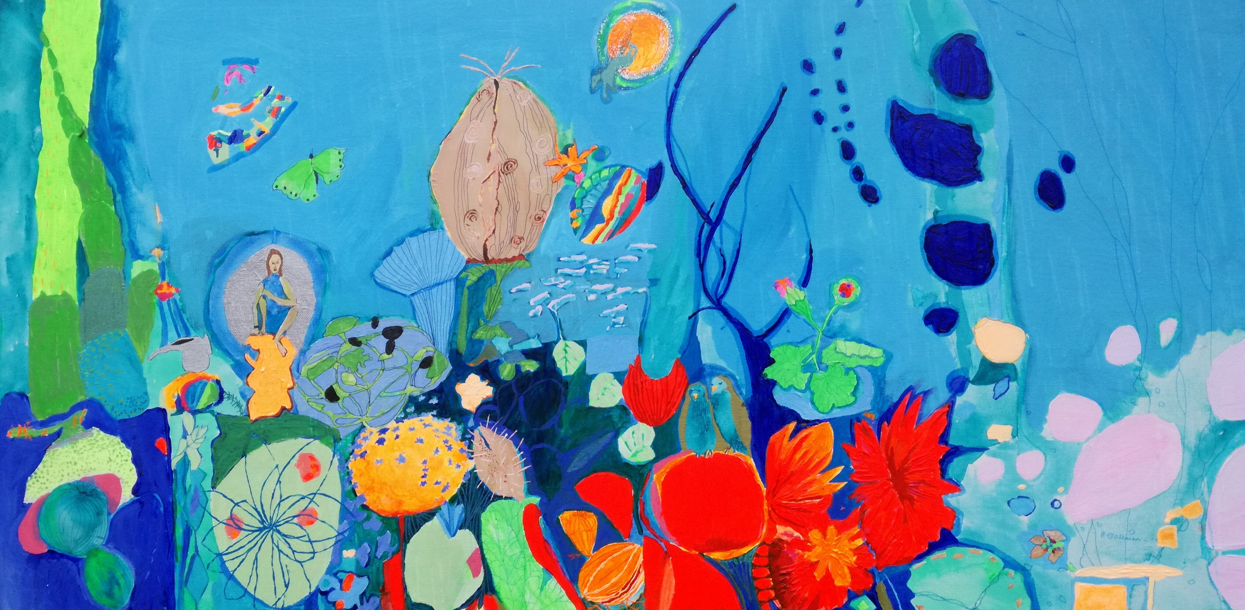 LOITERING AT 3 artwork by REBECCA DE FIGUEIREDO - art listed for sale on Artplode