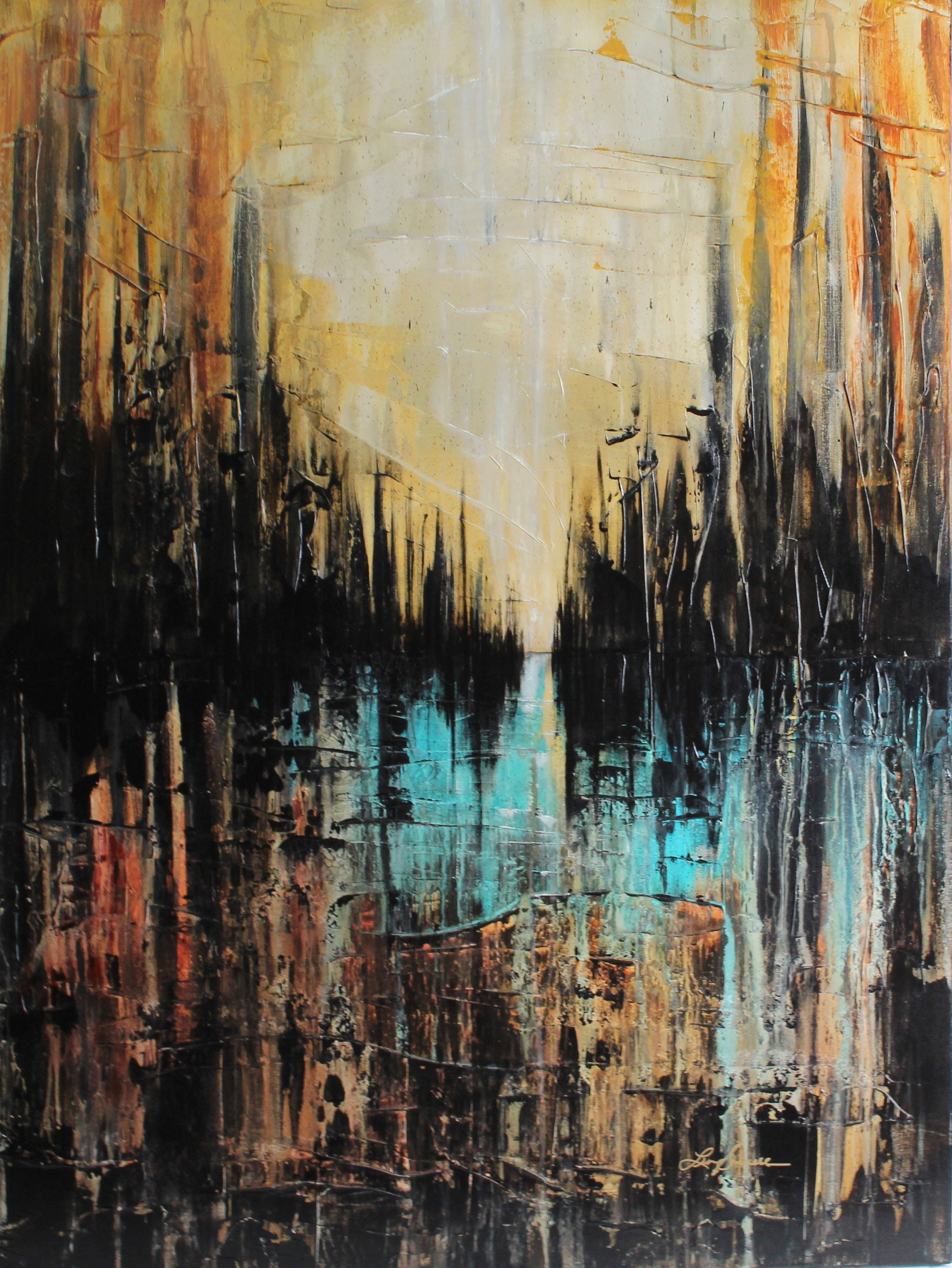 Dark City  artwork by Lisa - art listed for sale on Artplode