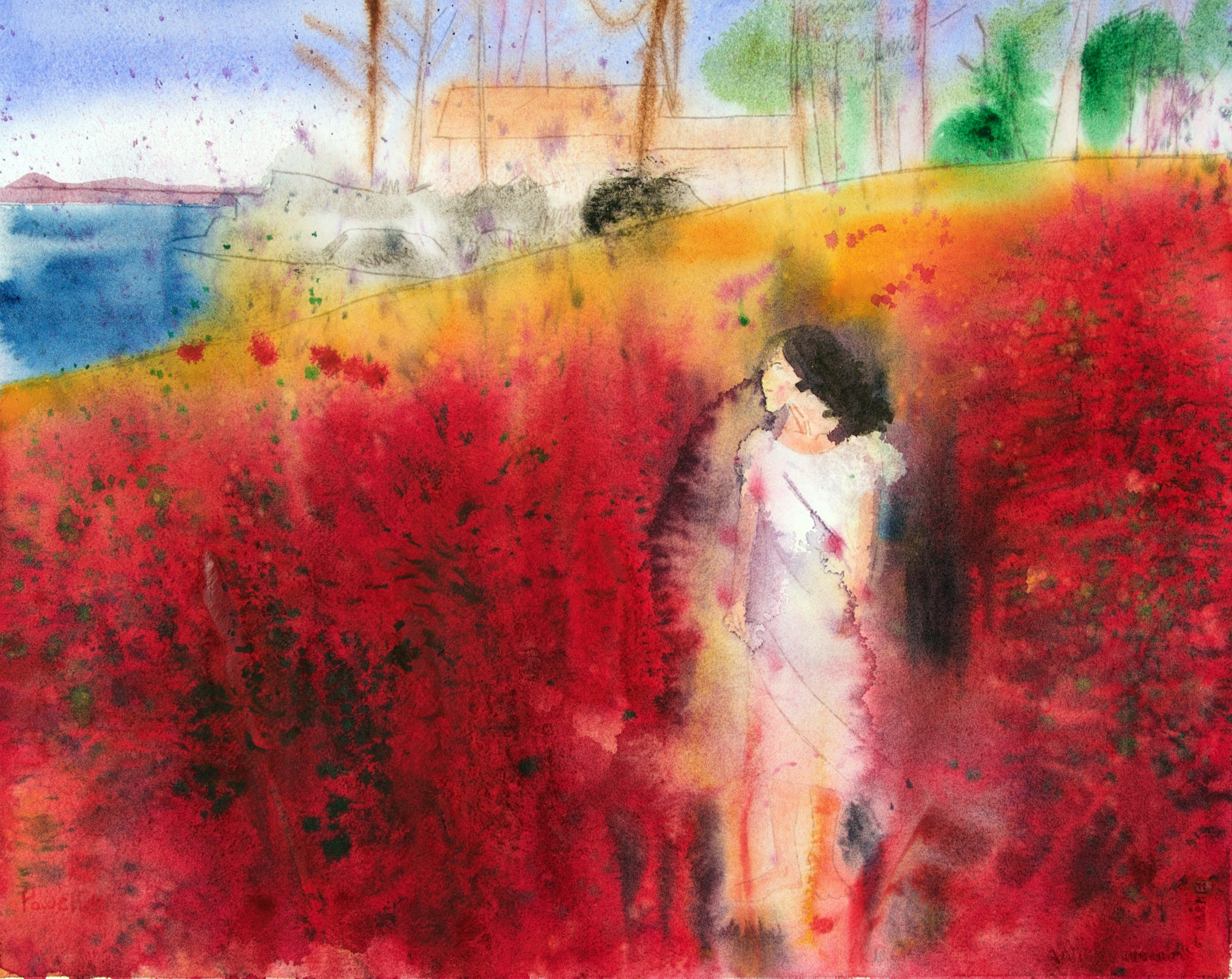 Spring Lady artwork by Brook Powell - art listed for sale on Artplode