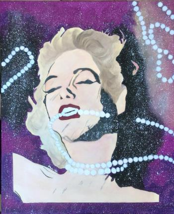 Marilyn Monroe in the Space, art for sale online by Maria Meli
