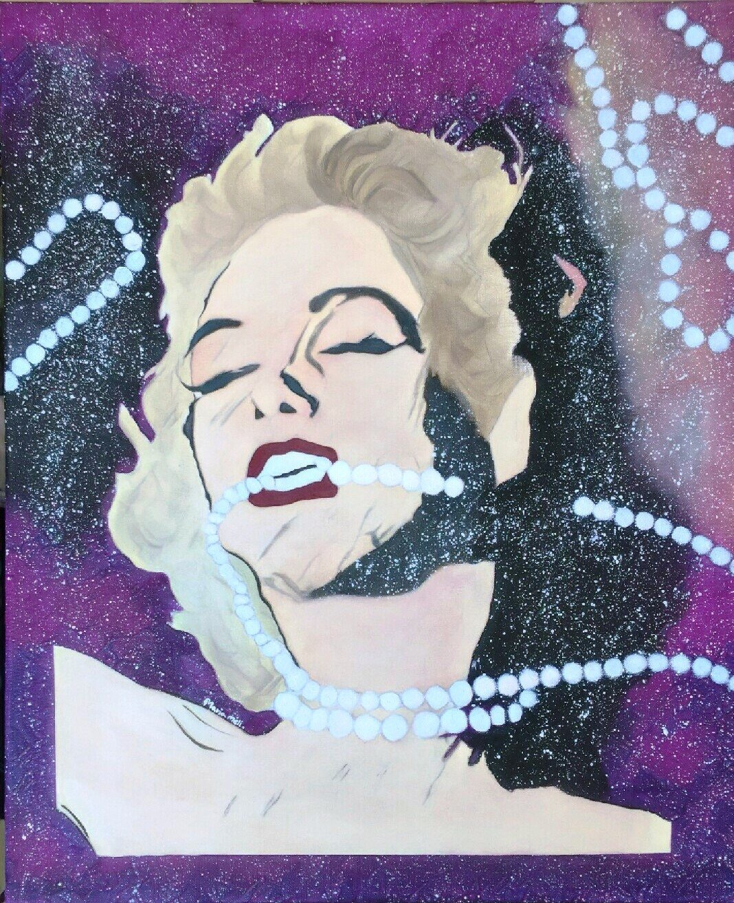 Marilyn Monroe in the Space artwork by Maria Meli - art listed for sale on Artplode