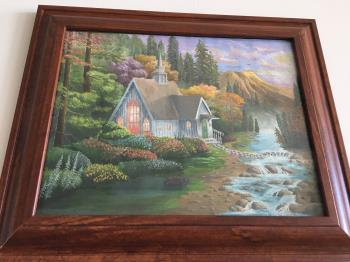 Afternoon by the stream artwork by Arnab Kundu - art listed for sale on Artplode