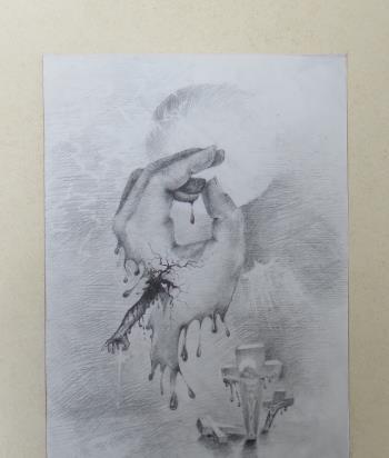 The Hand of Jesus artwork by Daniela Kostova