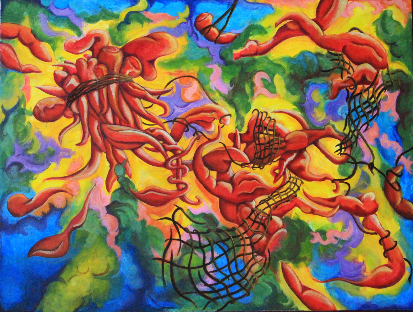 Flesh artwork by Yuexin Ma - art listed for sale on Artplode