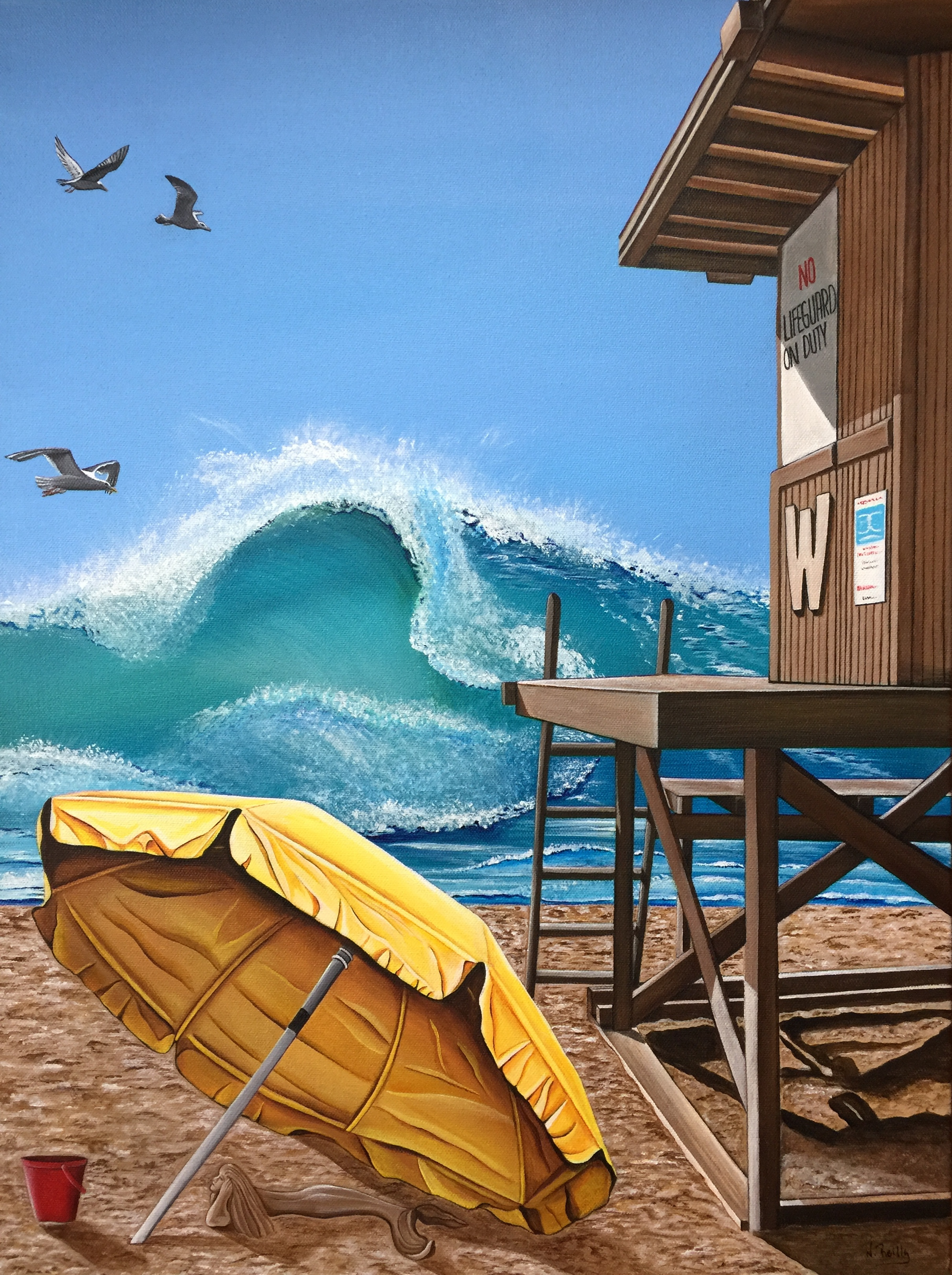 California Dreamin at the Wedge artwork by Natalie Reilly - art listed for sale on Artplode