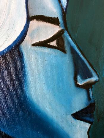 Slumber artwork by Golareh - art listed for sale on Artplode