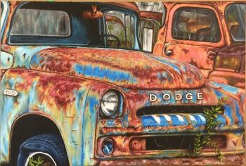 Old Trucks, art for sale online by Kim Renaud