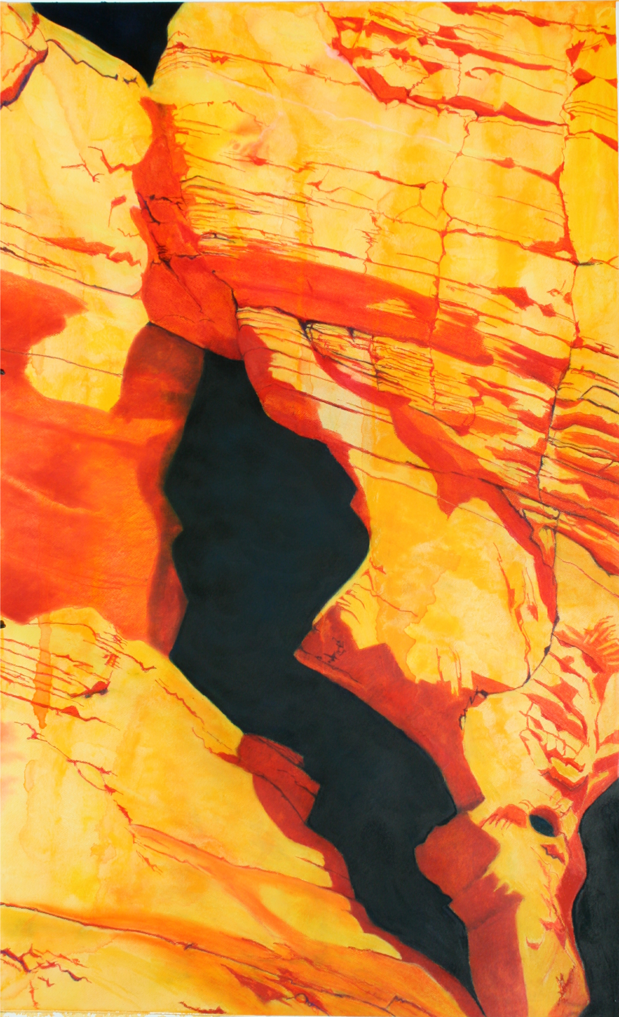 Valley of Fire 5 artwork by William Martin - art listed for sale on Artplode