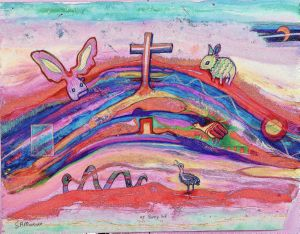 Up Bunny Hill, art for sale online by SA MURRAY