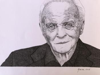 Country for Old Men Anthony Hopkins, art for sale online by Karina Saheki