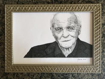 Country for Old Men Anthony Hopkins artwork by Karina Saheki