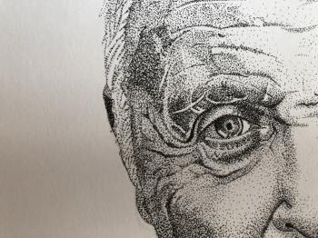Country for Old Men Anthony Hopkins artwork by Karina Saheki - art listed for sale on Artplode