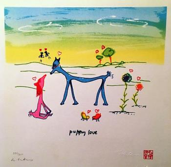 Puppy Love, art for sale online by John Lennon