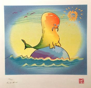 Walrus Wading, art for sale online by John Lennon