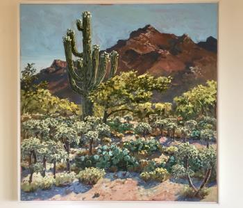 Catalina Mountains Tuscon  artwork by Lucy Culliton - art listed for sale on Artplode