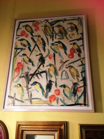 Green Singers artwork by Hunt Slonem - art listed for sale on Artplode