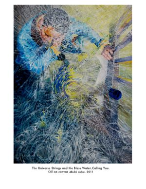 SeriesThe Universes Strings and the Blest Water, art for sale online by Guillermo Lorente Pérez