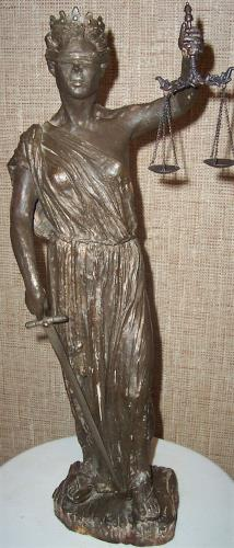 Lady Justice, art for sale online by Margaret Rey
