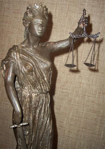 Lady Justice artwork by Margaret Rey